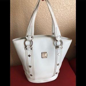MCM White Leather Bag